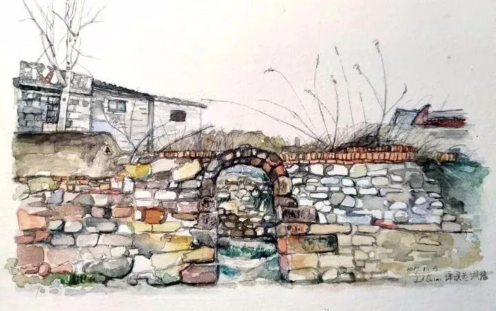 河边的老城墙,每年过年回去都会往这走走.图片